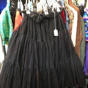 Black petticoat size large